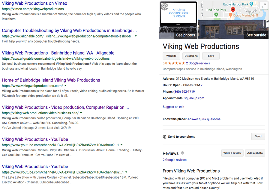 Want Multiple First Page Organic Google Rankings